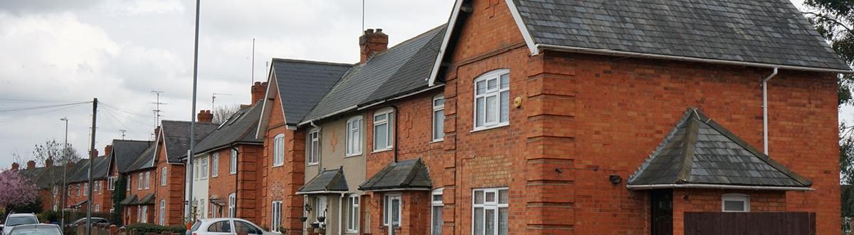 row of homes in Kingsthorpe