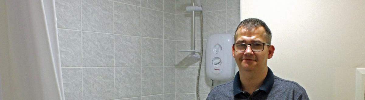 Tenant in refurbished NPH bathroom