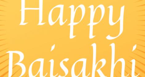 Wishing you a happy Baisakhi on yellow background