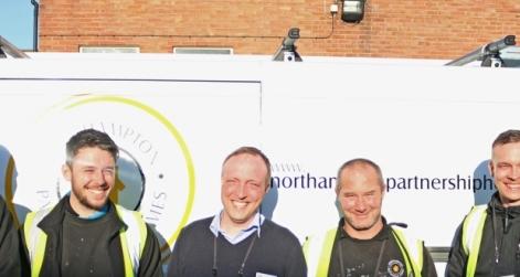 Trades Team in front of NPH van